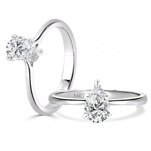 Elegant Pear Solitaire Engagement Ring