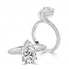Brilliant Pear Solitaire Engagement Ring