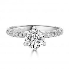 Six Claw Round Brilliant Solitaire Diamond
