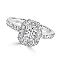 Vintage Emerald Cut Diamond Engagement Ring
