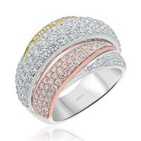 Three-toned Diamond Dress Ring