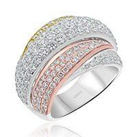 Three-toned Diamond Dress Ring
