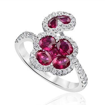Ruby and Diamond Sensation Dress Ring