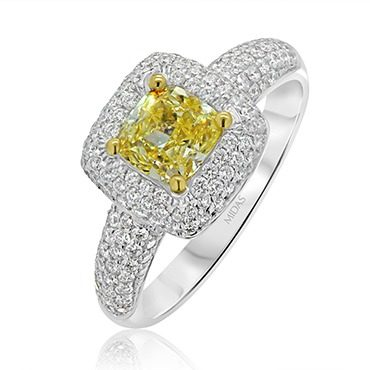 Fancy Yellow Diamond Cushion Cut