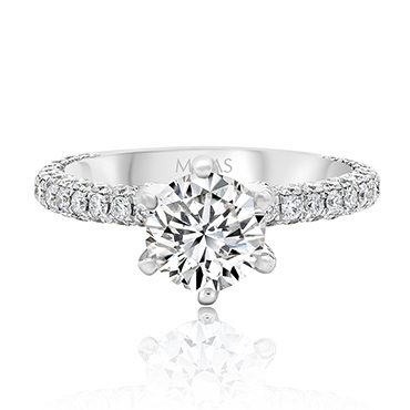 Six Claw Round Brilliant Solitaire Diamond