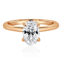 Oval Engagement Ring with Platinum Band