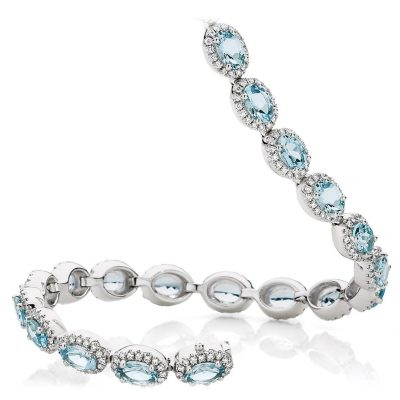 Aquamarine and Diamonds Glitter
