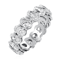 Oval Cut Diamond Eternity Ring