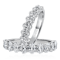 Oval Strand Diamond Ring