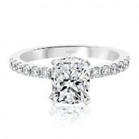 Classic Cushion Cut Solitaire Engagement Ring