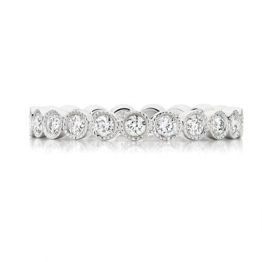 Diamond Milgrain Wedding Ring