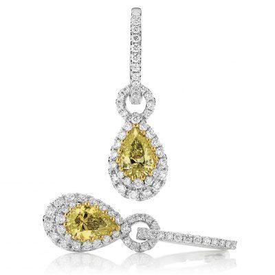 Yellow Pear Diamond Drops