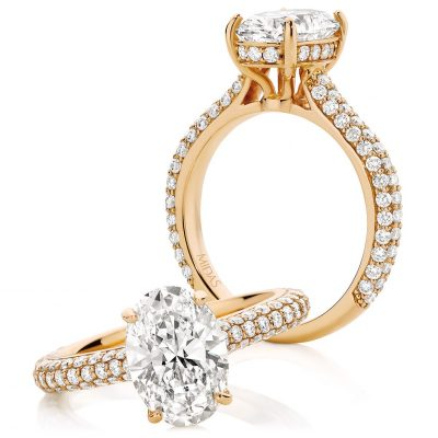 Oval Cut Rose Gold Engagement Ring