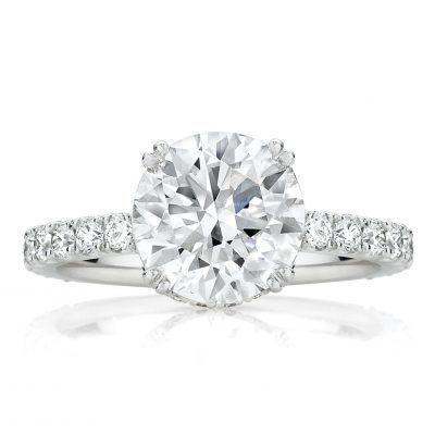 Round Diamond Pavé Solitaire