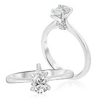 Elegant Pear Solitaire Engagement Ring