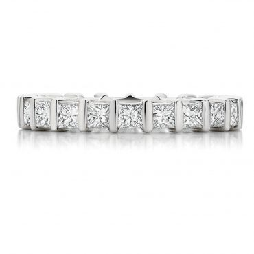 Individually Channel Set Diamond Wedding Band