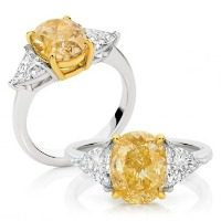 Intense Yellow Oval Cut Diamond