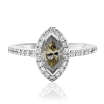 Marquise Cognac Diamond Engagement Ring