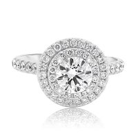 Double Halo Brilliant Engagement Ring