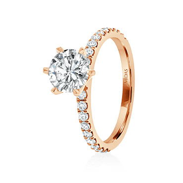 Two-Toned Brilliant Solitaire Engagement Ring