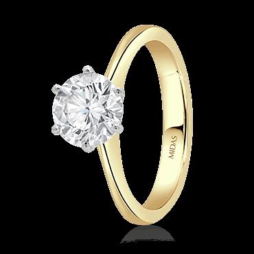 Classic Brilliant Cut Engagement Ring