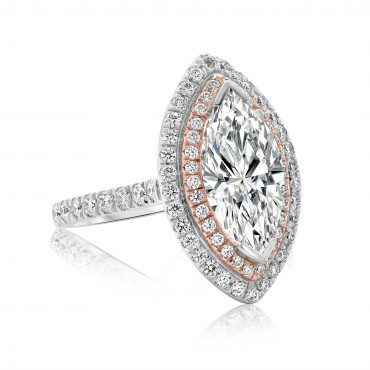 Marquise Diamond with Brilliant Halo