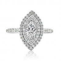 Marquise with Round Brilliant Double Halo