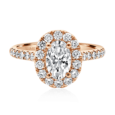 Oval Engagement with Round Brilliant Halo