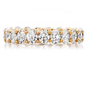 Oval Cut Rose Gold Wedding Ring