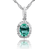 Emerald Beauty with Round Brilliants
