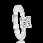 Elegant Princess Cut Solitaire Engagement Ring