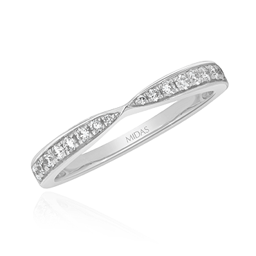 Pinched Diamond Grain Band