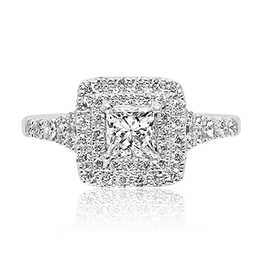 Seamless Princess Cut with Round Brilliant Double Halo