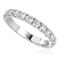 Round Cut Diamond Wedding Band
