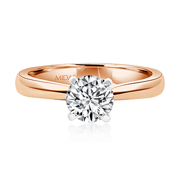Brilliant Solitaire Engagement Ring with Square Claws