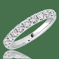 Round Claw Wedding Band