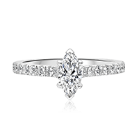 Marquise Solitaire with Round Brilliant Shoulders