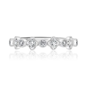 Star and Round Shaped Diamond Band