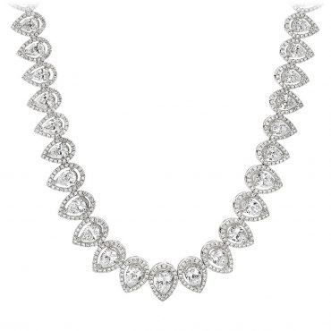 Pavé Pear Diamond Necklace