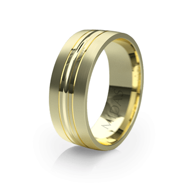 Modern Ring with Slick Middle Edge (QF1020)