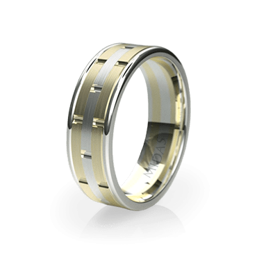 Contemporary Two-Toned Ring (QF1022)