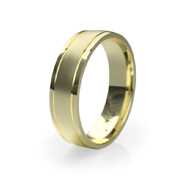 Brushed Ring with Polished Indents (QF1045)