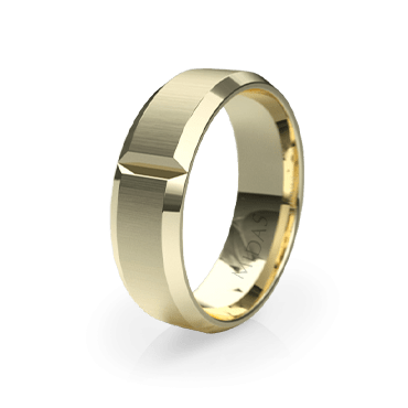 Panneled Ring with Duo Indents (QF1080)