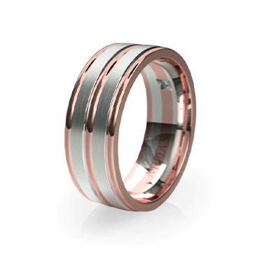 Lustrous Ringed Band with Diamond (QF1092D)