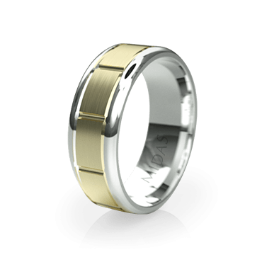 Duo Toned Ringed Band with Brushed Finish (QF1108)