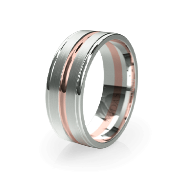 Double Panneled Band with Trio Polish (QF1147)
