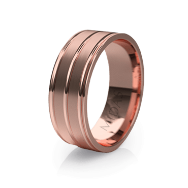 Smooth Finish Ring with Trio Inlay (QF1157)
