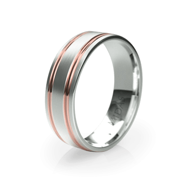 Wide Band with Surrounding Polished Indents (QF1344)