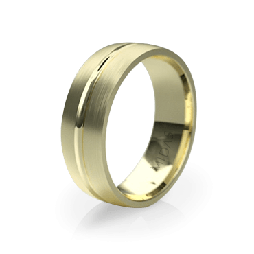 Classic Wedding Band with Inner Groove (QF1379)