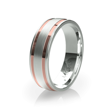 Polished and Wide Brushed Ring (QF1390)